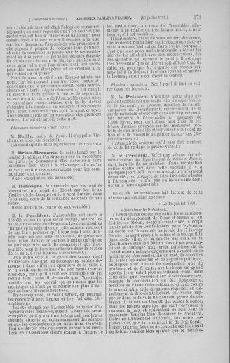 Tome 28 : Du 6 au 28 juillet 1791 - page 373