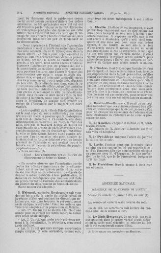 Tome 28 : Du 6 au 28 juillet 1791 - page 374
