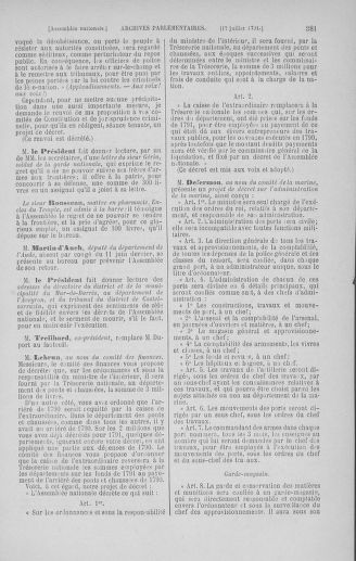 Tome 28 : Du 6 au 28 juillet 1791 - page 381