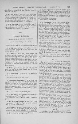 Tome 28 : Du 6 au 28 juillet 1791 - page 395