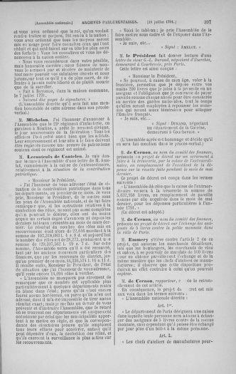 Tome 28 : Du 6 au 28 juillet 1791 - page 397