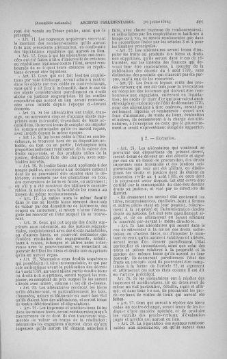 Tome 28 : Du 6 au 28 juillet 1791 - page 421