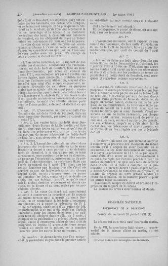 Tome 28 : Du 6 au 28 juillet 1791 - page 448