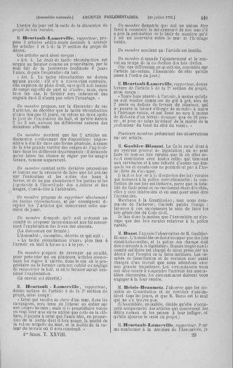 Tome 28 : Du 6 au 28 juillet 1791 - page 449