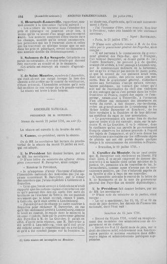Tome 28 : Du 6 au 28 juillet 1791 - page 484