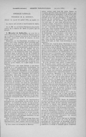 Tome 28 : Du 6 au 28 juillet 1791 - page 637