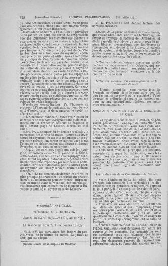Tome 28 : Du 6 au 28 juillet 1791 - page 678