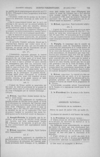 Tome 28 : Du 6 au 28 juillet 1791 - page 719