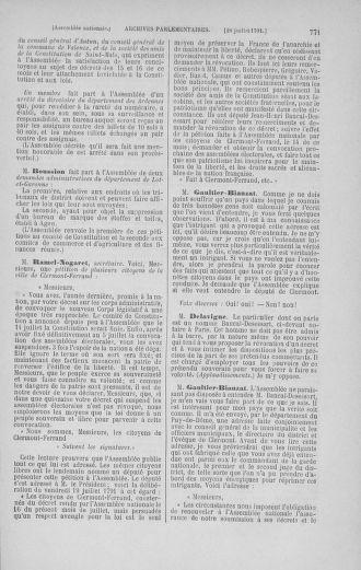 Tome 28 : Du 6 au 28 juillet 1791 - page 771