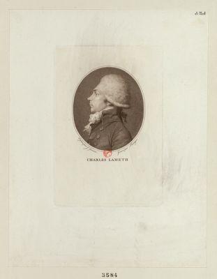 Charles Lameth député ... de l'Artois <em>à</em> l'Assemblée nationale en 1789, élu président le 2 juil. 1791 : [estampe]