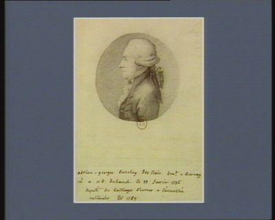 Adrien-Georges Buschey des Noës dem.t à Bernay, né à Notre Dame du Hamel le 22 février 1736 député du bailliage d'Evreux à l'Assemblée nationale de 1789 : [dessin]