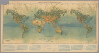 United States Shipping Board world map