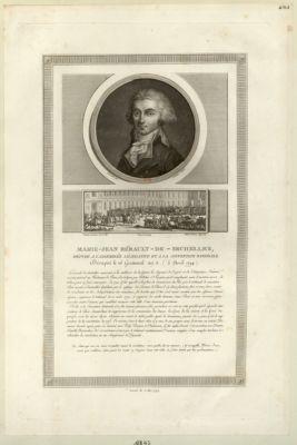 Marie-Jean Hérault-de-Sechelles, député à l'Assemblée législative [estampe]