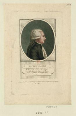 M. Chapellier président de l'Assemblée nationale le 1 août 1789. Deputé de Rennes... : [estampe]