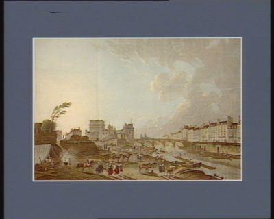 Vue de la Porte S.t Bernard prise au bas de la rive dudit quay : [estampe]