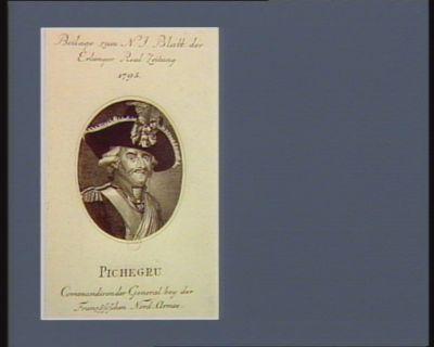 Pichegru Commandirender General bey der französischen Nord-Armee : [estampe]