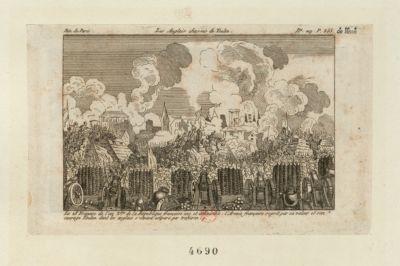 Les  Anglais chassés de Toulon le 28 frimaire de l'an 2.e de la République Française une et indivisible, l'armée française reprit par sa valeur et son courage Toulon, dont les Anglais s'étaient emparé par trahison : [estampe]
