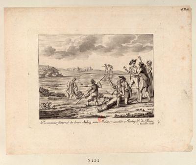 Dévouement fraternel du brave Aubry jeune Militaire invalide <em>à</em> Acolay D.t de l'Yonne 10 Brumaire An IX : [estampe]