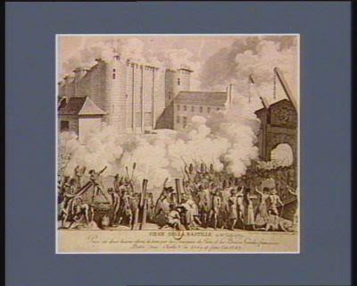 Siege de la Bastille du 14 juillet 1789 prise en deux heures édemi de tems, par les bourgeois de Paris, et les braves gardes françoises... : [estampe]