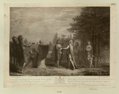 Louis XVI , attented by Religion & Charity, enters the Elysian Fields [estampe]