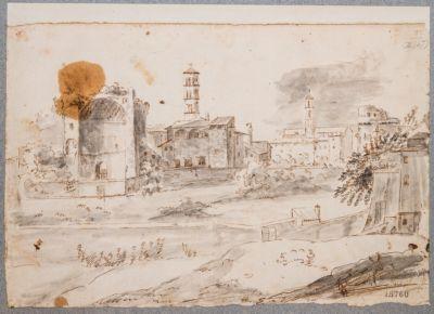 Tempio di Venere e Roma, con Convento