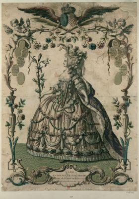 Marie Antoinette d'Autriche reine de France et de Navarre mariée a Versailles le 16 mai 1775... : [estampe]