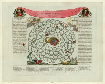 Les  Delassements du Pere Gerard ou la poule de Henri IV mise au pot en 1792 : jeu national : [estampe]