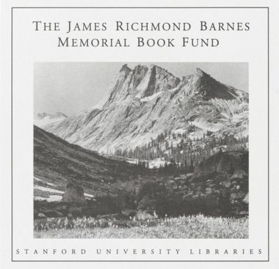 James Richmond Barnes Memorial Book Fund