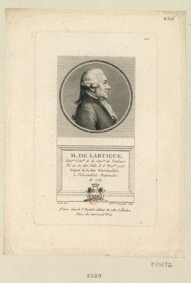 M. de Lartigue lieu.nt gén.al de la sen.sée de Toulouse. Né en la dite ville le 6 nov.bre 1723 député de la dite sénéchaussée à l'Assemblée nationale de 1789 : [estampe]