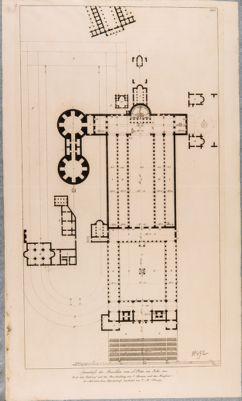 Grundriss der Basilika von S. Peter im Jahr 806