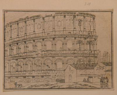 Colosseo, esterno. Parte del recinto esterno