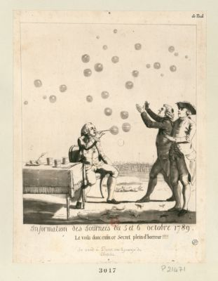 Information des journées du <em>5</em> et <em>6</em> octobre <em>1789</em> le voila donc enfin ce secret plein d'horreur ! ! ! ! : [estampe]