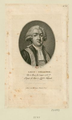 Lally-Tollendal né à Paris le 5 mars 1751, député de Paris à l'Ass.blée nationale : [estampe]