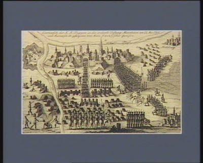 Einmarsch der K.K. Truppen in die eroberte Festung Mannheim am 22 Nov. 1795 und Ausmarsch der gefangenen 8000 Mann französischer Garnison [estampe]
