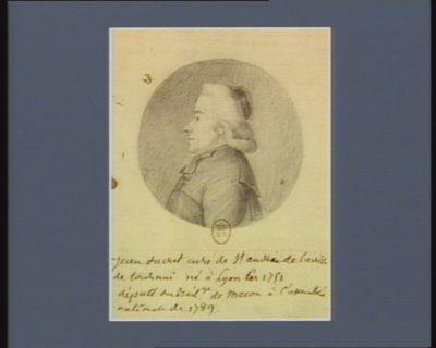 Jean Ducret curé de St André de la ville de Tournai né à Lyon en 1751 député du bailliage de Macon à l'Assemblée nationale de 1789 : [dessin]