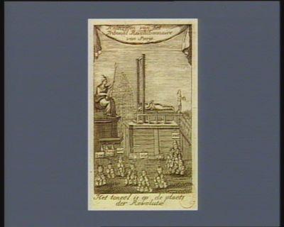 Halsregten van het Tribunal Revolutionnaire van Parijs het toneel is op de plaets der Revolutie : [estampe]