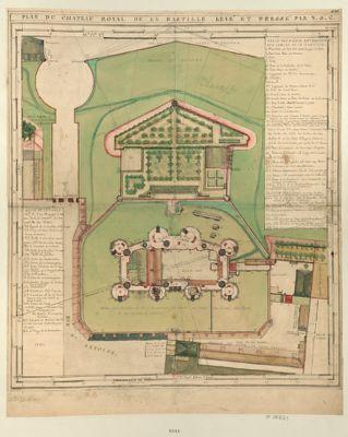 Plan du château royal de la Bastille [dessin]