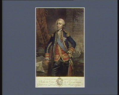 Charles Henri comte d'Estaing chevalier des ordres du Roi, lieutenant général de ses armées vice amiral de France : [estampe]