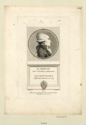 M Herwyn cons.ler pensionnaire à Hontschoote né en cette d.te ville le 18 7.bre 1753 député du bail.e de Bailleul à l'Assemblée nationale de 1789 : [estampe]