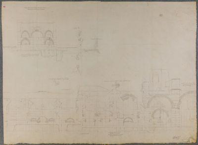 Terme di Caracalla, alzato delle mura