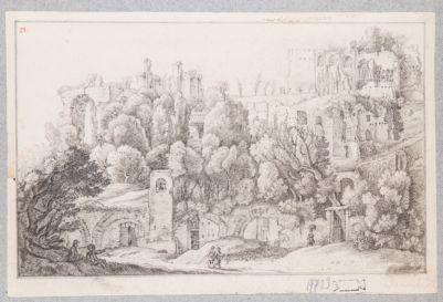 Palatino, resti della Domus Severiana verso Settizonio