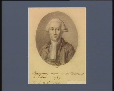 Beauperrey deputé du B.ge D Evreux le 4 mars... 1789 Né le 13 8.bre 1745 : [dessin]