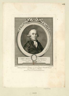 L.s Bert.d Chenon de Baigneux, lieutenant criminel et maire de Chenon député de Touraine : [estampe]