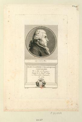 M. de Clapiers Collonques chevalier né à Aix en Provence. Député de la séné.ssée d'Aix à l'Assemblée nationale de 1789 : [estampe]