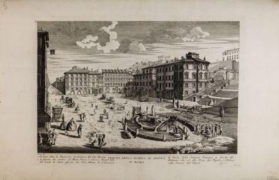 """Piazza di Spagna, fontana del Bernini detta """"La Barcaccia"""""""