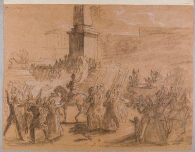Piazza del Popolo in una celebrazione civile