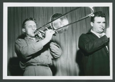 Trombonist Charles Sonnanstine with Lu Watters at Hambone Kelly's, 1949-50