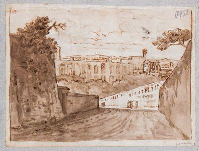 Palatino, resti della Domus Severiana visti da levante