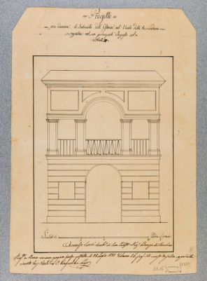 Osteria dei Tre Ladroni, prospetto architettonico