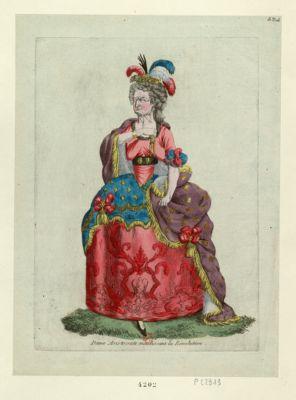 Dame aristocrate maudissant la Révolution [estampe]